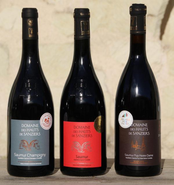 """Idée cadeau : coffret 3 bouteilles"""" valisette rouge"""""""
