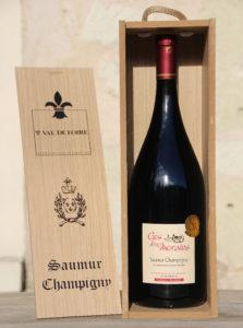 """Saumur Champigny """"Clos des Morains"""" 2019, magnum en caisse bois"""